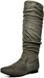 13aaa77753414 Amazon.com | DREAM PAIRS Women's Knee High Low Hidden Wedge Boots ...