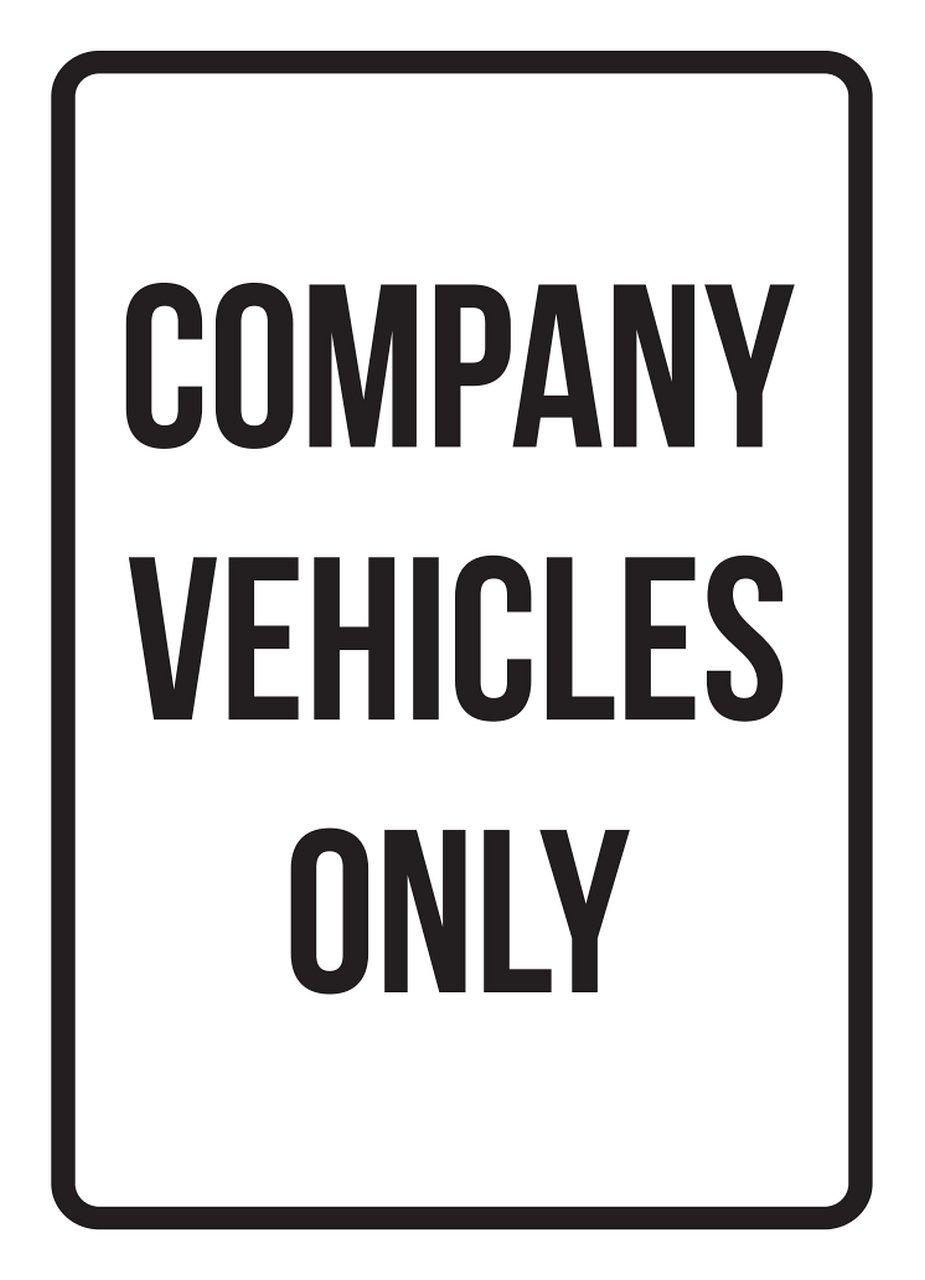 iCandy Products Inc Company Vehicles Only No Parking Business Safety Traffic Signs Black - 7.5x10.5 - Plastic