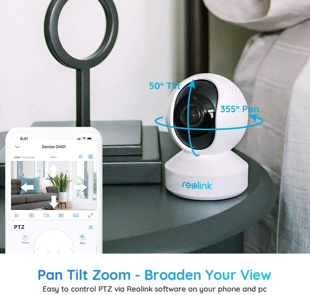 Home Security Indoor IP Surveillance Camera 2019 New Version Two Way Audio C2 Pro White Reolink Digital 3X Optical Zoom  Pan /& Tilt  2.4//5 GHz Dual Band WiFi REOLINK 5MP Wireless PTZ Camera