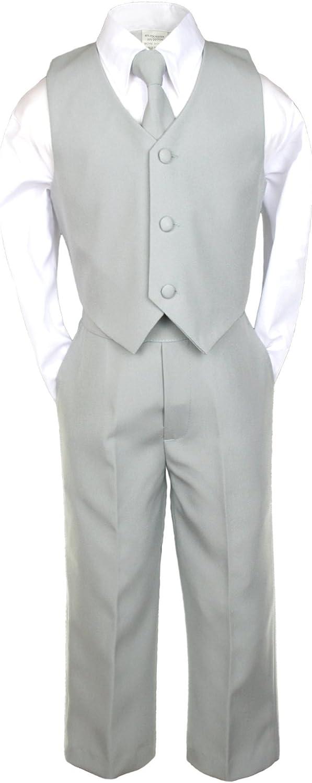 Unotux Infant Baby Toddler Boy Black Suit Shawl Lapel Tuxedo Vest Set 0-7 Years