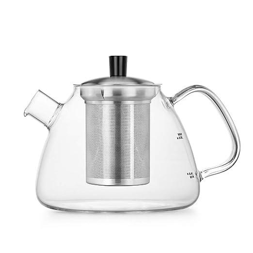 Samadoyo - Tetera de cristal con infusores para té suelto de ...