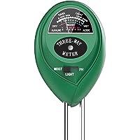 Soil Test Kit, 3-in-1 Soil/pH/Light Meter for Plant Care, Dr.meter S30 Soil Moisture Meter/Soil pH Meter for Garden Farm…