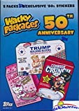 #2: 2017 Topps Wacky Packages 50th Anniversary EXCLUSIVE Factory Sealed Value Box with Special BONUS PACK of (5) Best of the '80's Stickers! Look for Autograph, Plates, Sketch & Parallel Cards! Wowzzer!