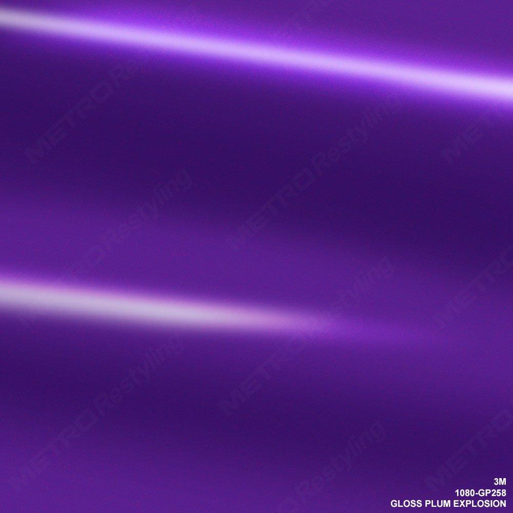 3 M 1080 gp258グロスプラム爆発車ラップビニールフィルム 5ft x 10ft (50 Sq/ft) パープル 1080-GP258 B06XX26GKZ 5ft x 10ft (50 Sq/ft) - 5ft x 10ft (50 Sq/ft)