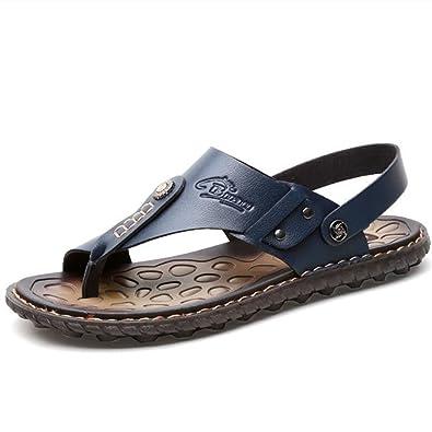 4c96c7aad0db1d Newbestyle Homme Chaussure été Sandales Cuir Souple Sandales de Plage Tongs