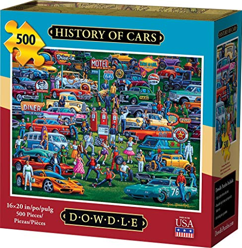 Dowdle Jigsaw Puzzle - History of Cars - 500 Piece