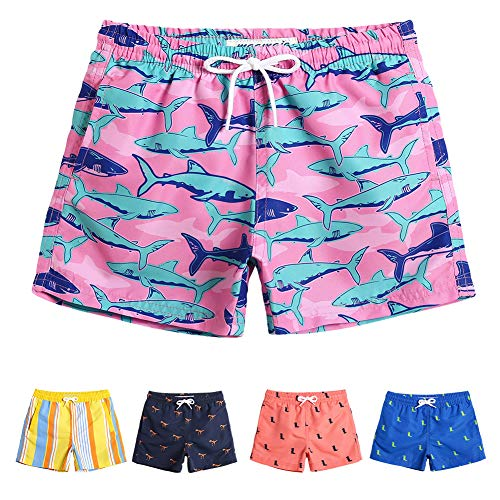 MaaMgic Boys Cute Shark Swim Trunks 4T Toddler Swim Shorts Little Boys Bathing Suit Swimsuit Toddler Boy Swimwear