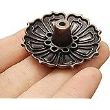 HonXins 1pcs 9 Holes Lotus Incense Burner Holder Flower Statue Censer Plate