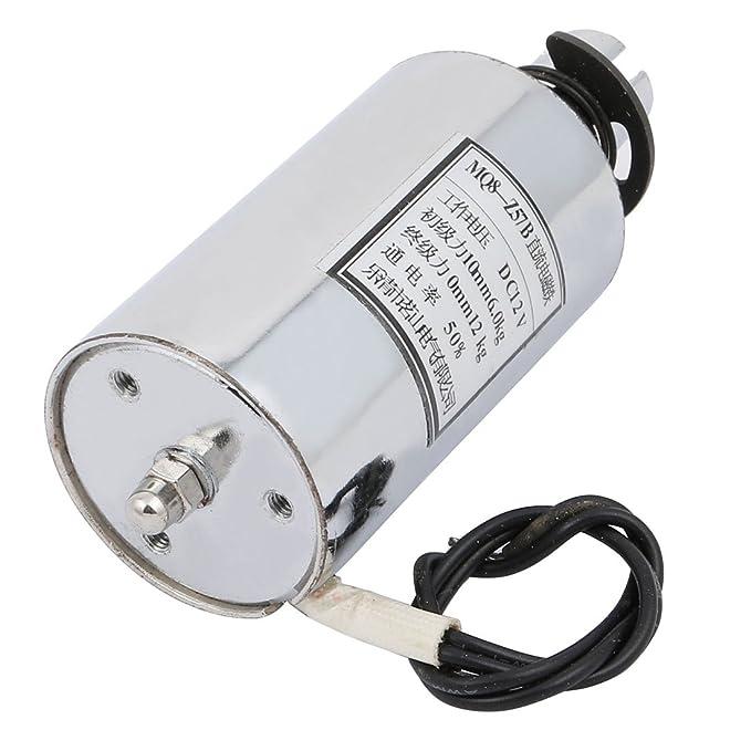 MQ8-Z57B DC 12V 10mm//120N Round Shape Push Pull Type Electromagnet Solenoid