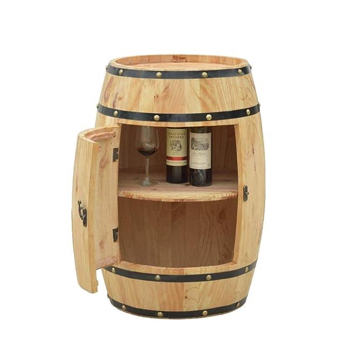 LYTZX Barril de Roble Bodega decorado barril de cerveza de madera ...