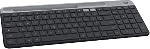 Logitech K580 Slim Multi-Device Wireless Keyboard for Chrome OS - Bluetooth/USB Receiver, Easy Switch, 24 Month Battery, Desktop, Tablet, Smartphone, Laptop Compatible