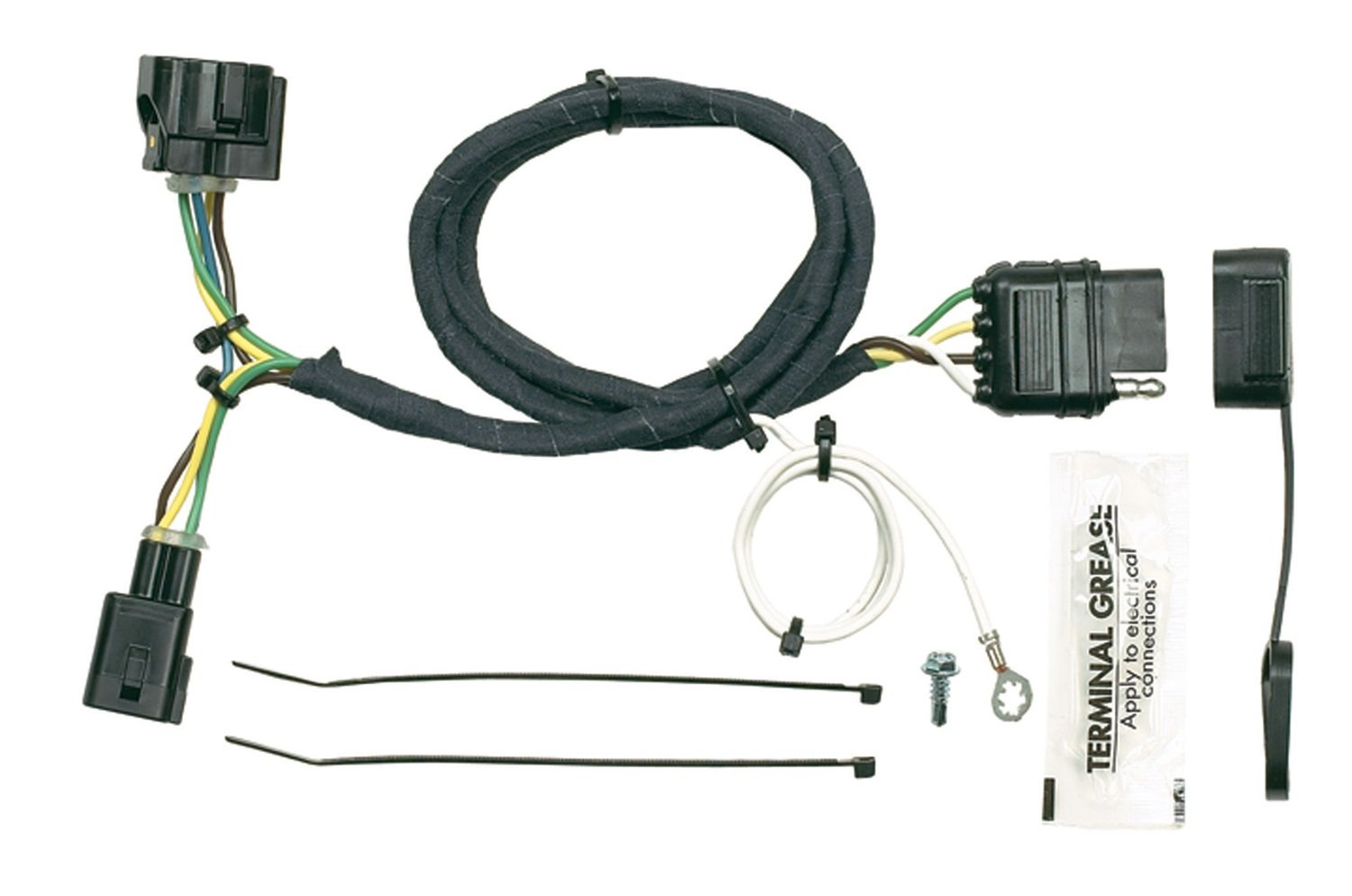 Quick connect trailer wiring harness jeep wrangler