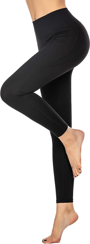 Unibelle Damen Sporthose Sport Leggings mit Taschen Blickdicht Lange Leggins