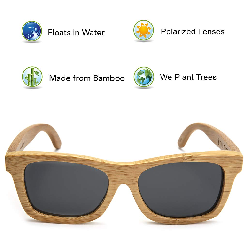 Amazon.com: Bamboo Wood Sunglasses with Polarized Lenses and ...