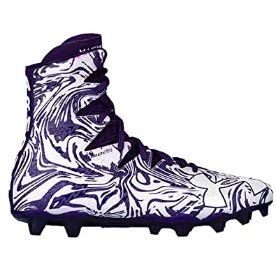 ad2d792e391d Under Armour UA Highlight Lux MC White/Purple Men's Football Cleats 12.5 US