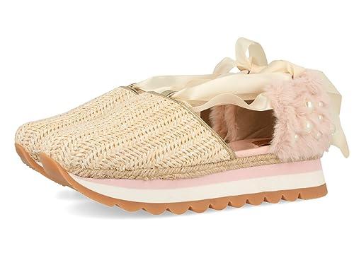 43418, Zapatillas Altas para Mujer, Beige (Natural), 37 EU Gioseppo