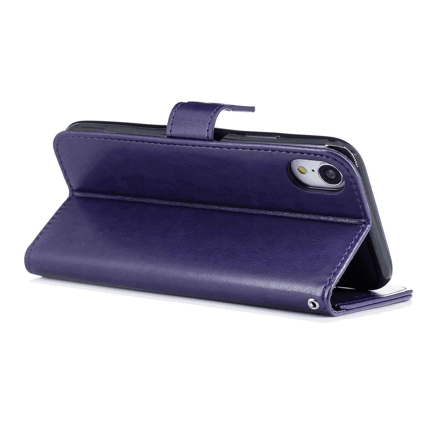 Gray Wallet Case for iPhone XR Leather Cover Compatible with iPhone XR