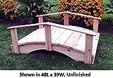 Amish-Made Weight-Bearing Cedar 3' x 8' Oriental Garden Bridge, Mushroom Stain