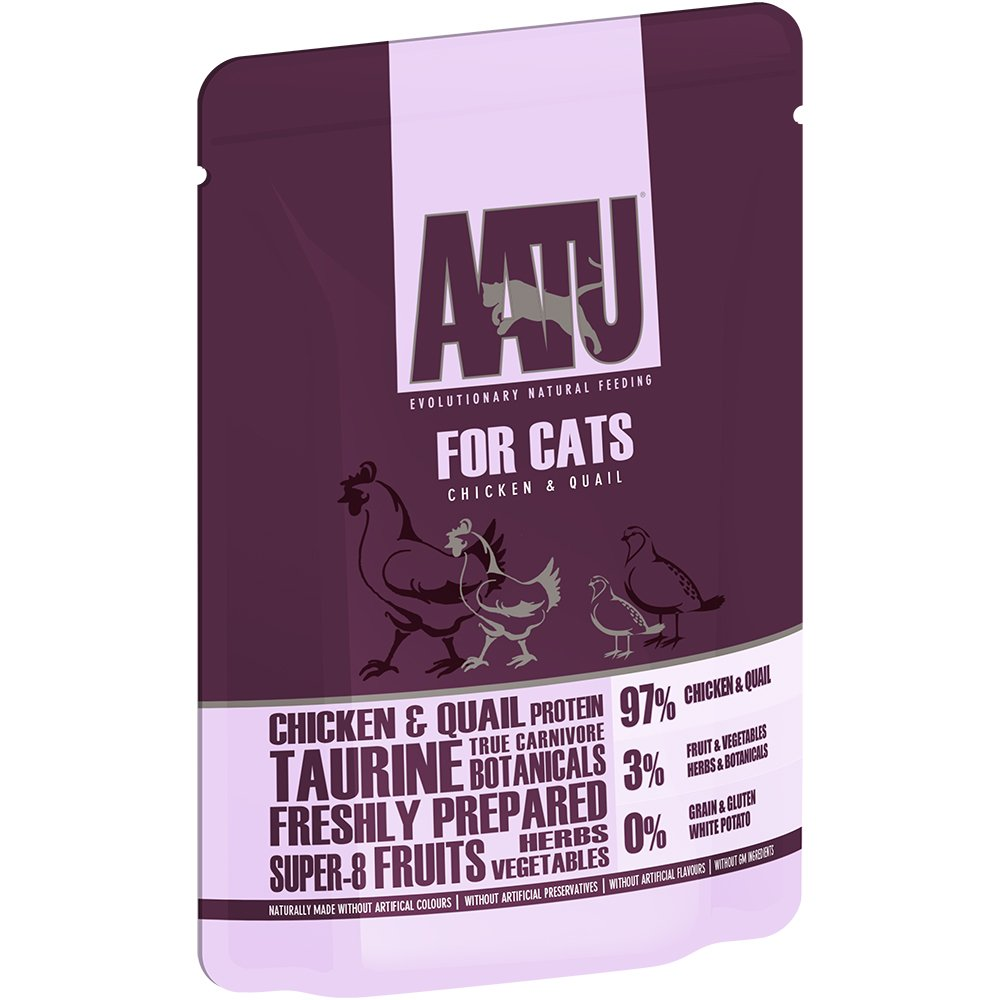 AATU 97/3 Wet Cat Food, Chicken and Quail, No...