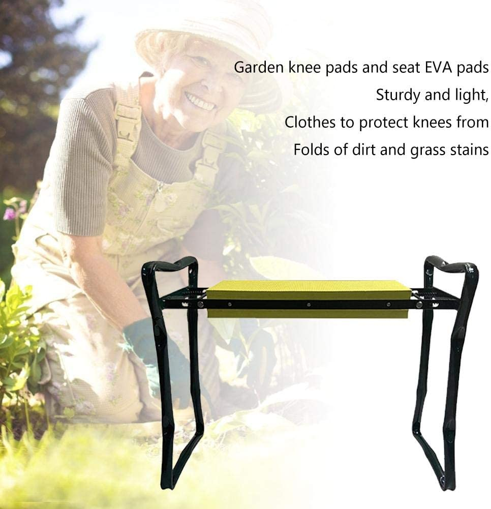 Garden Kneeler And Seat EVA Pad Sturdy LightweightProtects Your Knees Clothes From Dirt /& Grass Stains Foldable Stool Garden Kneeler Seat With Handles