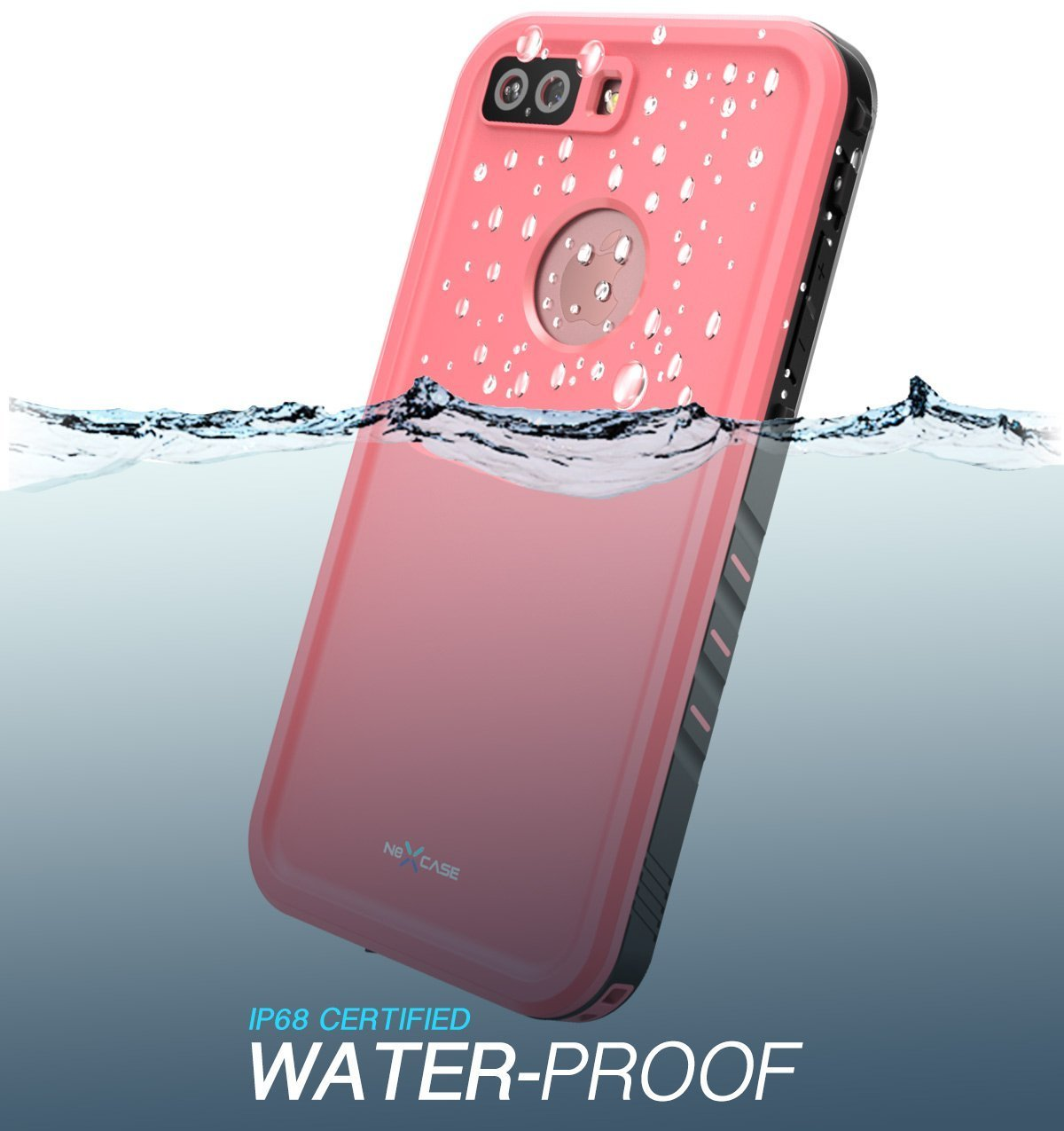 buy online 4761d 16797 iPhone 8 Plus Case, NexCase Waterproof Full-body Rugged Case with Built-in  Screen Protector for Apple iPhone 7 Plus 2016 / iPhone 8 Plus 2017 Release  ...