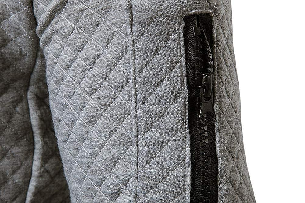 Uni Clau Men/'s Fashion Bomber Jacket Coat Slim Fit Lightweight Fleece Varsity Jackets