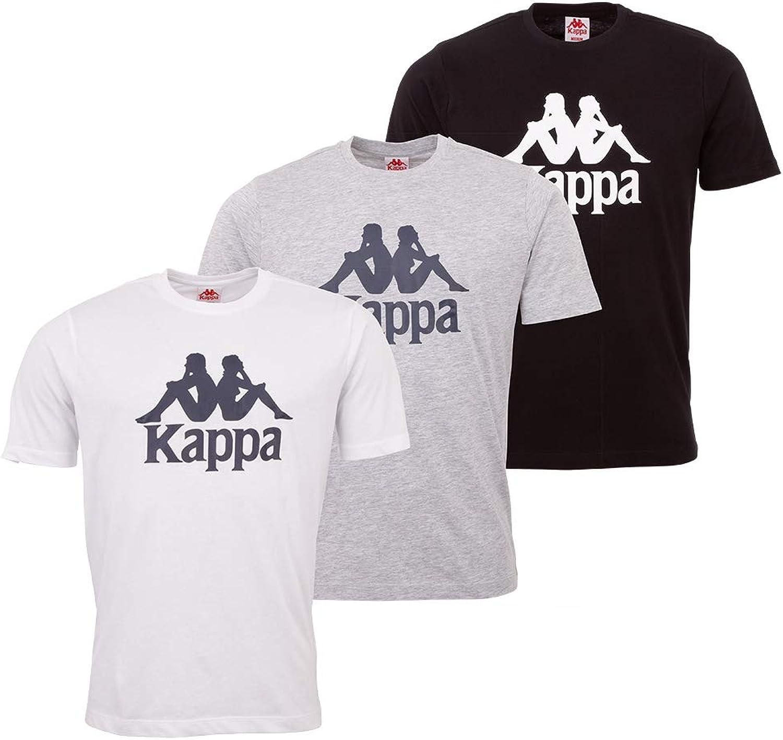 Kappa VEPPEL - Pack de 3 camisetas deportivas para hombre con cuello redondo y logo impreso para hombre - Camiseta de manga corta para deporte y ocio - Corte regular: Amazon.es: Ropa y accesorios