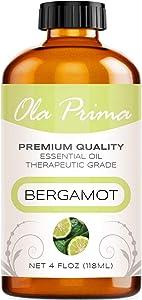 Ola Prima 4oz - Premium Quality Bergamot Essential Oil (4 Ounce Bottle) Therapeutic Grade Bergamot Oil