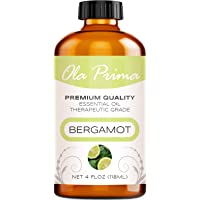 Ola Prima 4oz - Premium Quality Bergamot Essential Oil (4 Ounce Bottle) Therapeutic Grade Bergamot Oil