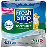 Fresh Step Odor Shield Scented Litter with the Power of Febreze, Clumping Cat Litter, 42 Pounds