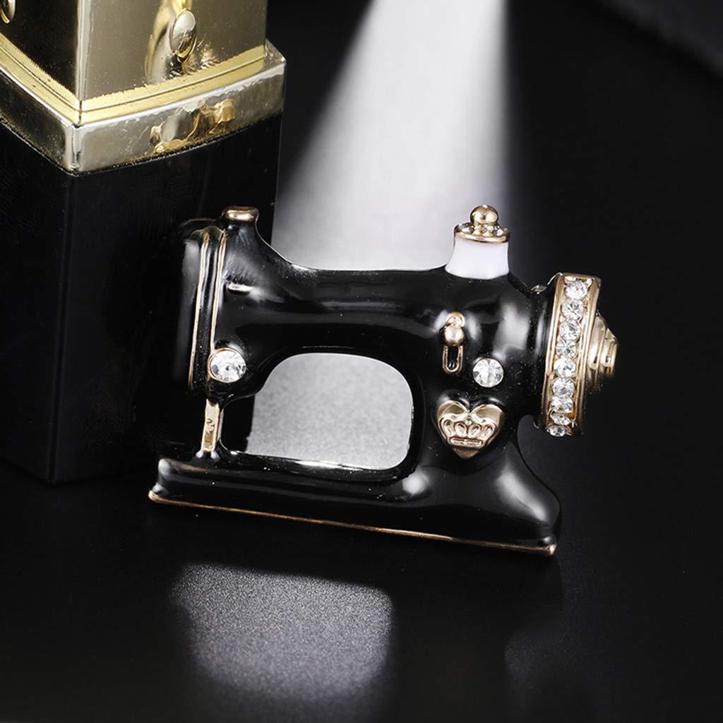 Vektenxi /Spilla a forma di macchina da cucire Accessori per abiti da sposa vintage Spille da donna Spille uniche Hijab Pratiche e popolari