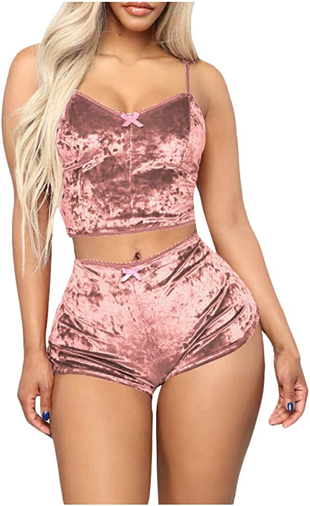 Howme Women Swing Vest Wide Leg High-Waisted Solid Crop Top with Shorts