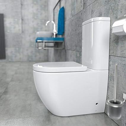 Bekannt KERABAD Randlose Stand-WC Kombination mit Spülkasten WC-Sitz aus KH69