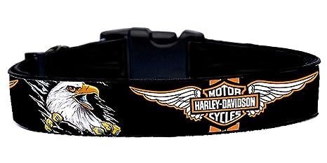 MasTazas Harley Davidson Eagle Collar de Perro Talla M Handmade ...