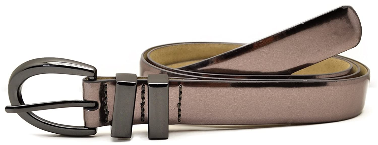 """Style & Co. Womens Metal Double Keeper 1""""belt Pewter Small"""