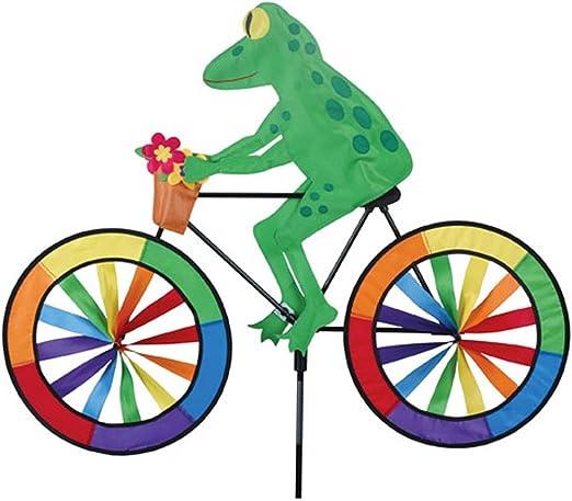 Breeze Gira con el Viento de jardín de Rana. Rana Sobre una Bicicleta jardín Spinner: Amazon.es: Jardín