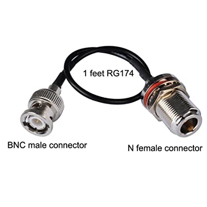 PC-CASE 1ft Rf BNC Male to N Female Connector Coaxial Cable Rg174 30cm for