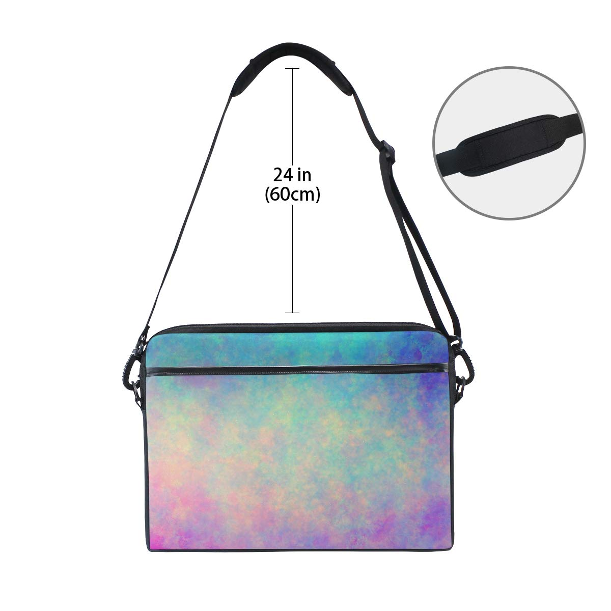 Briefcases Pigmentmens and Womens Computer Bags Handbags Suitable for 15 Inch Computers Shoulder Bags