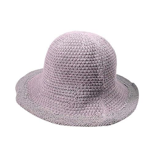 89148eaecdcca URIBAKE Knitting Hollow Hat Korean Version of Outdoor Travel Sun ...