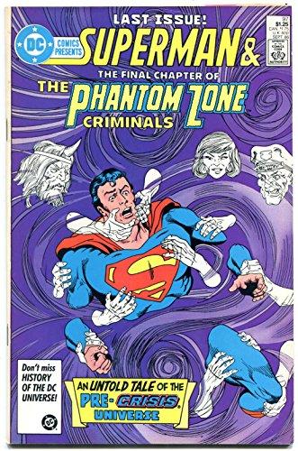 - DC Comics Presents #97 1986- Last Pre-Crisis General Zod- last issue VF