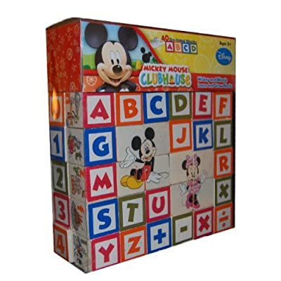 Mickey Mouse Clubhouse Mickey and Minnie Learn and Grow Blocks: Toys & Games
