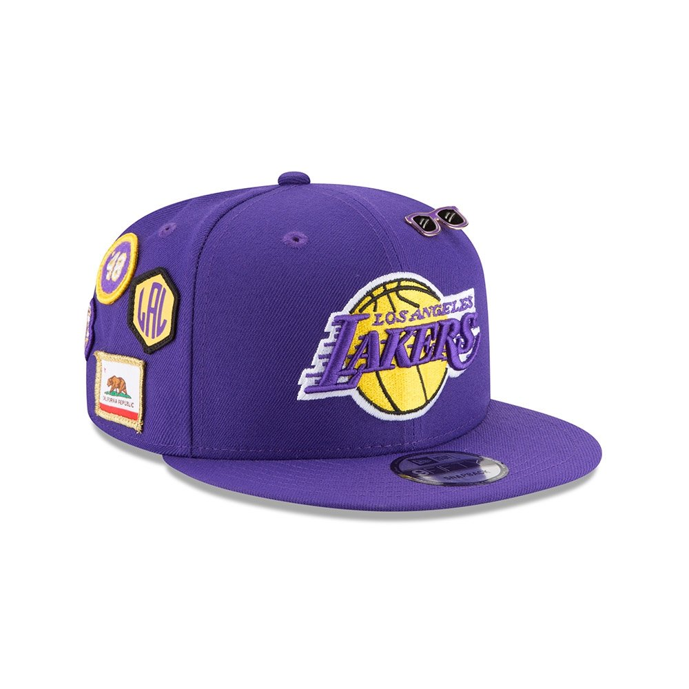b39881907264b Amazon.com   New Era Los Angeles Lakers 2018 NBA Draft Cap 9FIFTY Snapback  Adjustable Hat- Purple   Sports   Outdoors
