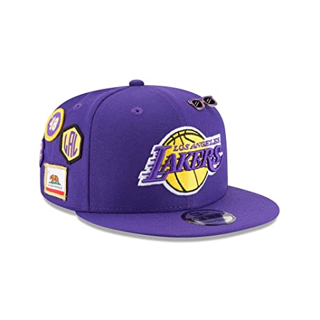 321fcadf5e4 Image Unavailable. Image not available for. Color: New Era Los Angeles  Lakers 2018 NBA Draft Cap 9FIFTY Snapback Adjustable Hat- Purple