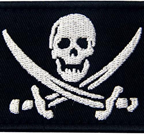 Bandera Pirata Táctico Militar Emblema Moral Aplique Broche ...