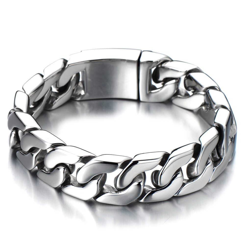 Top Quality Men's Stainless Steel Curb Chain Bracelet COOLSTEELANDBEYOND MB-310