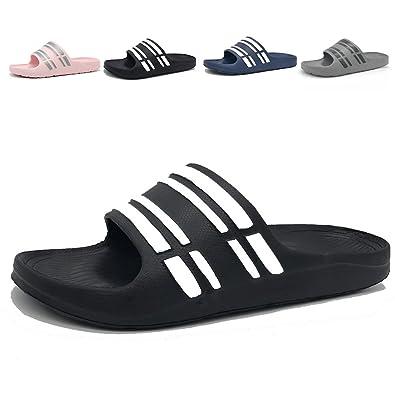 47dd2d549 FiveStoresCity Men Women Slides House Slippers Shower Shoes Arch Support  Sandals (Men 10.5 D(
