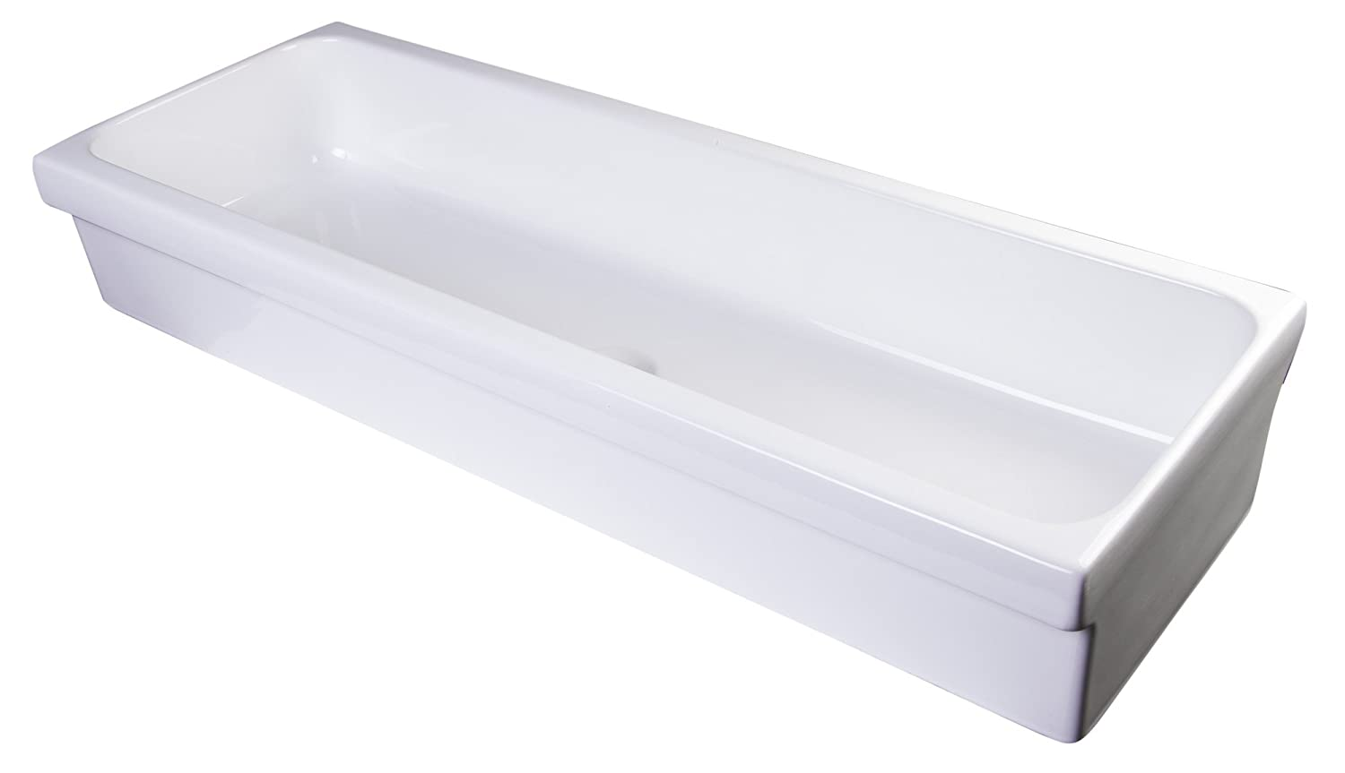 ALFI brand AB48TR Bathroom Trough Sink, 48 , White