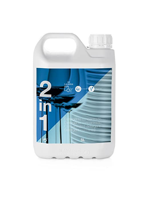 Detergente Lavavajillas 2 in 1 (5L) 250 Lavados: Amazon.es ...