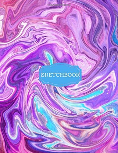 Sketchbook: Unicorn Pink, Purple, Turquoise Marble Sketchbook 8.5' x 11' Extra Large, Painting, Journaling, Doodling, Drawing (Sketchbooks) ebook