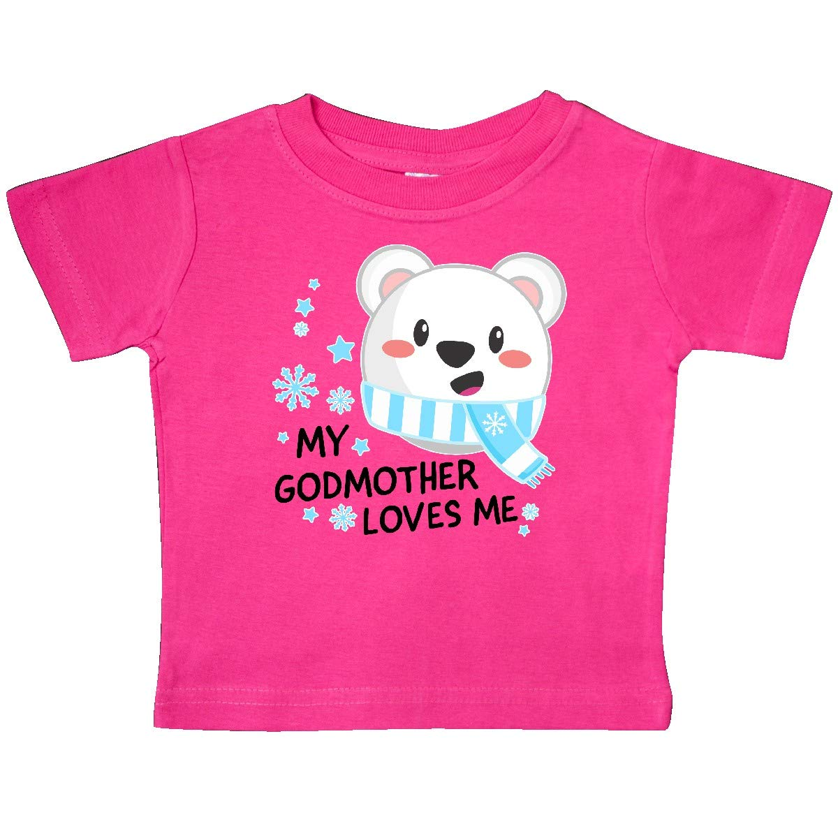 inktastic My Godmother Loves Me Polar Bear Baby T-Shirt